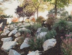 Lowes Medford for a Traditional Landscape with a Boulders and Woodland by Regenesis Ecological Design