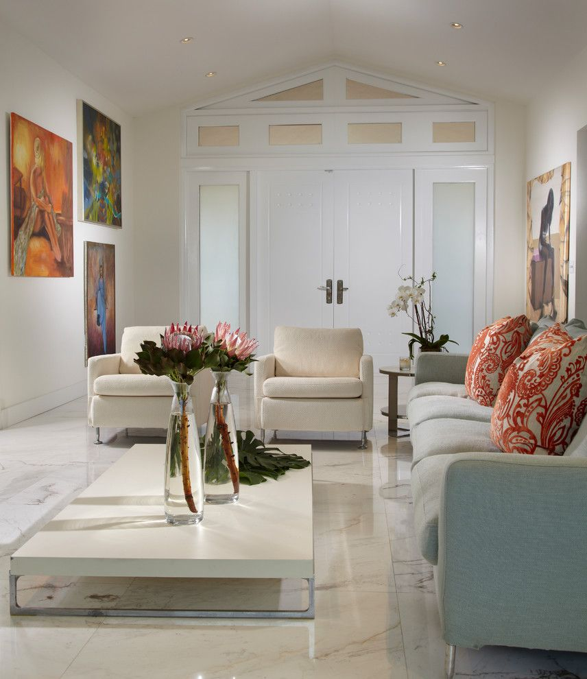 Lowes New Orleans for a Contemporary Living Room with a Low Coffee Table and J Design Group – Modern – Contemporary Interior Designer Miami – Bay Harbor Isla by J Design Group   Interior Designers Miami   Modern