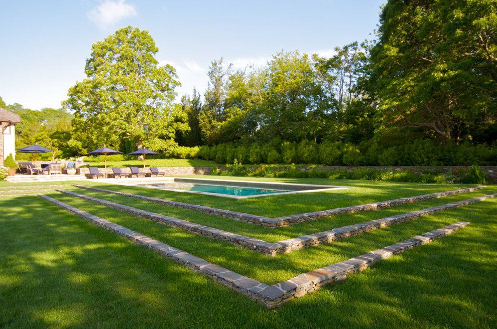 Lowes New Orleans for a Traditional Pool with a Stone Wall and Actor's Colony North Haven Village New York by Lear & Mahoney Landscape Associates