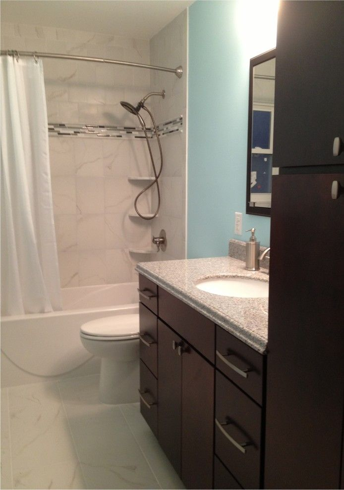 Lowes Nj for a Transitional Spaces with a Transitional and Kraftmaid Bath Project   Bergenfield, Nj by Lowe's of Paramus, Nj