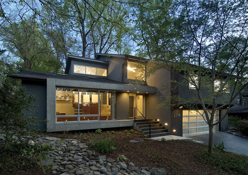 Lowes Norfolk Va for a Contemporary Exterior with a Dry River Bed and Arlington Residence by Kube Architecture