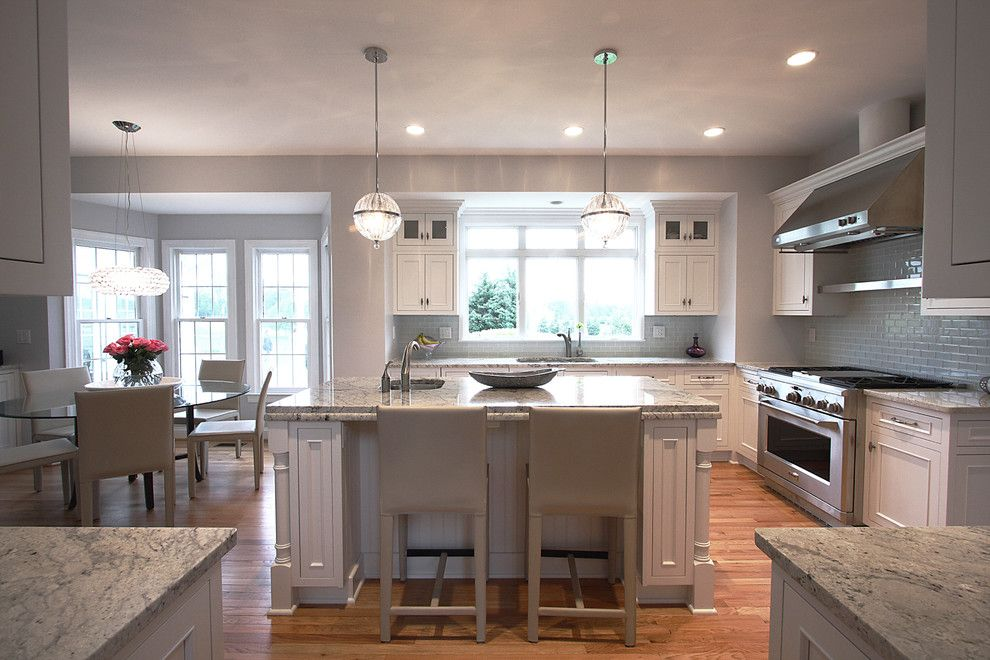 Lowes Norfolk Va for a Traditional Kitchen with a Kitchen Island and Contemporary Lighting + Classic Design by Nvs Remodeling & Design