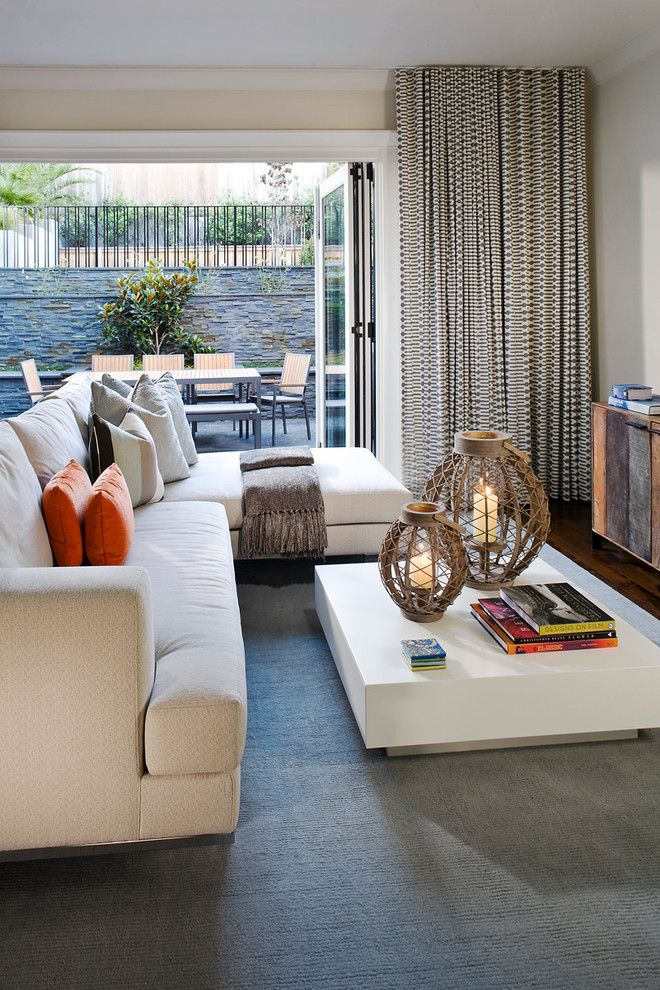 Lowes Palmdale Ca for a Contemporary Family Room with a Beige Sofa and Noe Valley Residence by Jeff Schlarb Design