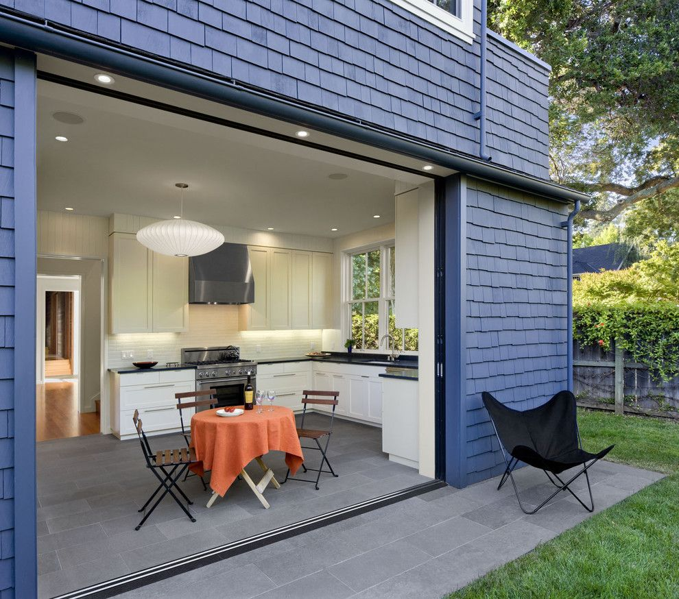 Lowes Palmdale Ca for a Contemporary Kitchen with a Shaker Style Cabinets and Addition/remodel of Historic House in Palo Alto by Cathy Schwabe Architecture