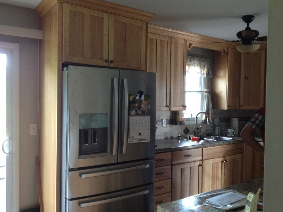 Lowes Palmyra Pa for a Traditional Kitchen with a Formica Counter Top and Kraftmaid Sides Kitchen   Kirkland Hickory by Lowe's of Palmyra, Pa