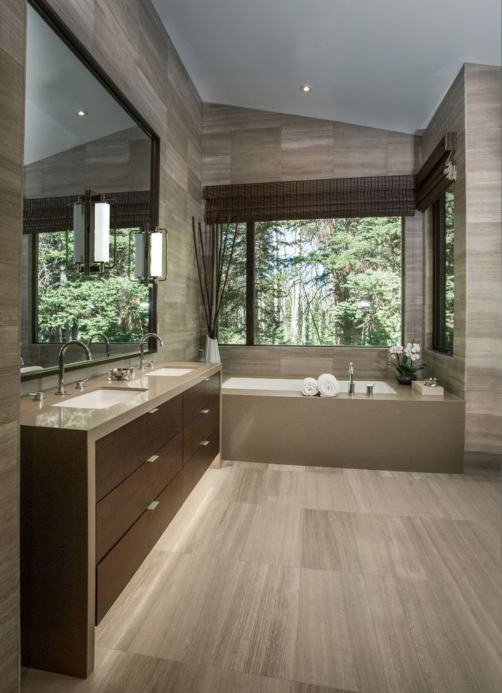 Lowes Prescott Az for a Contemporary Bathroom with a Wall Sconces and Freeman Residence by LMK INTERIOR DESIGN