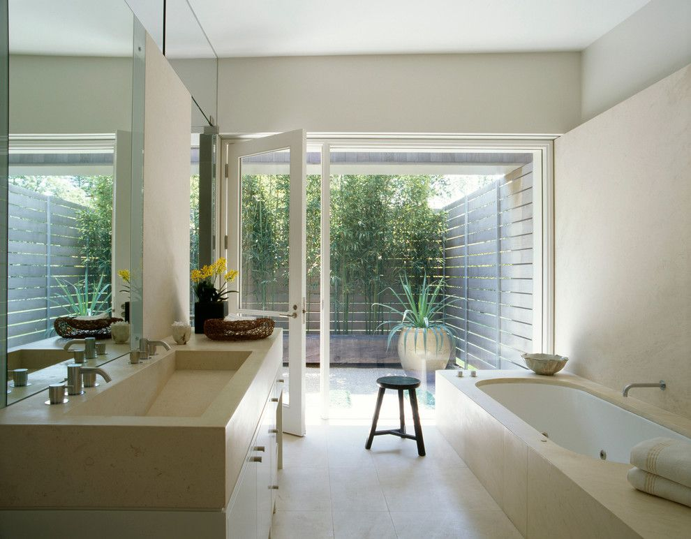 Lowes Queensbury Ny for a Contemporary Bathroom with a Wood and Marin County Residence by Dirk Denison Architects