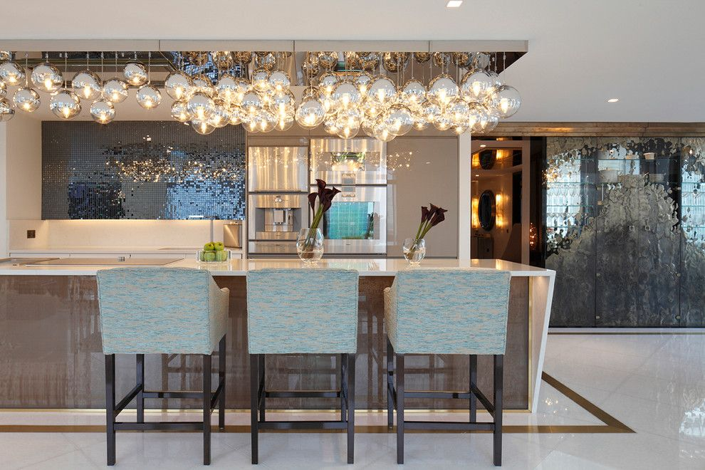 Lowes Queensbury Ny for a Contemporary Kitchen with a Counter Stools and Kitchen Peninsula London by Rocco Borghese