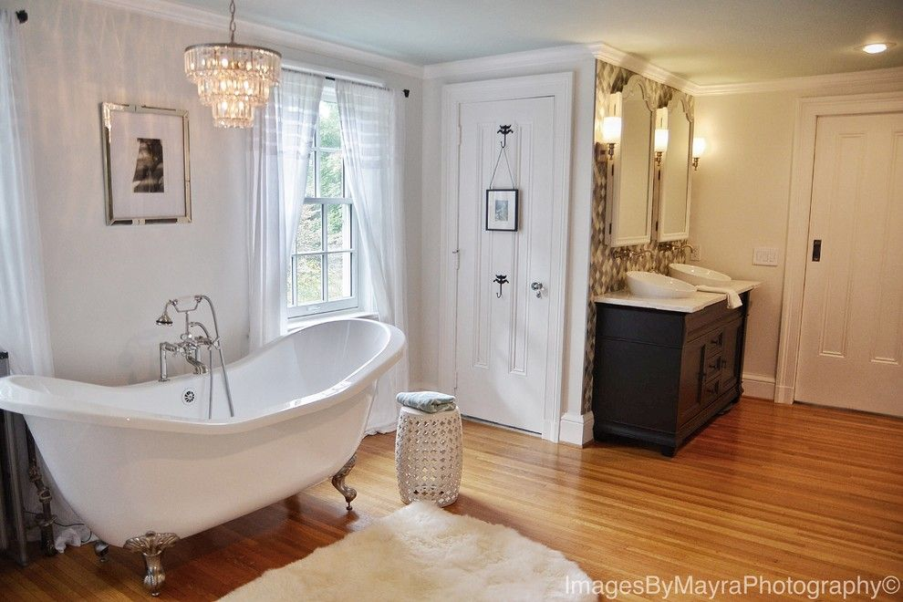 Lowes Queensbury Ny for a Traditional Bathroom with a Maple Wood and Pittsford, Ny Traditional White Bathroom by Innovations by Vp