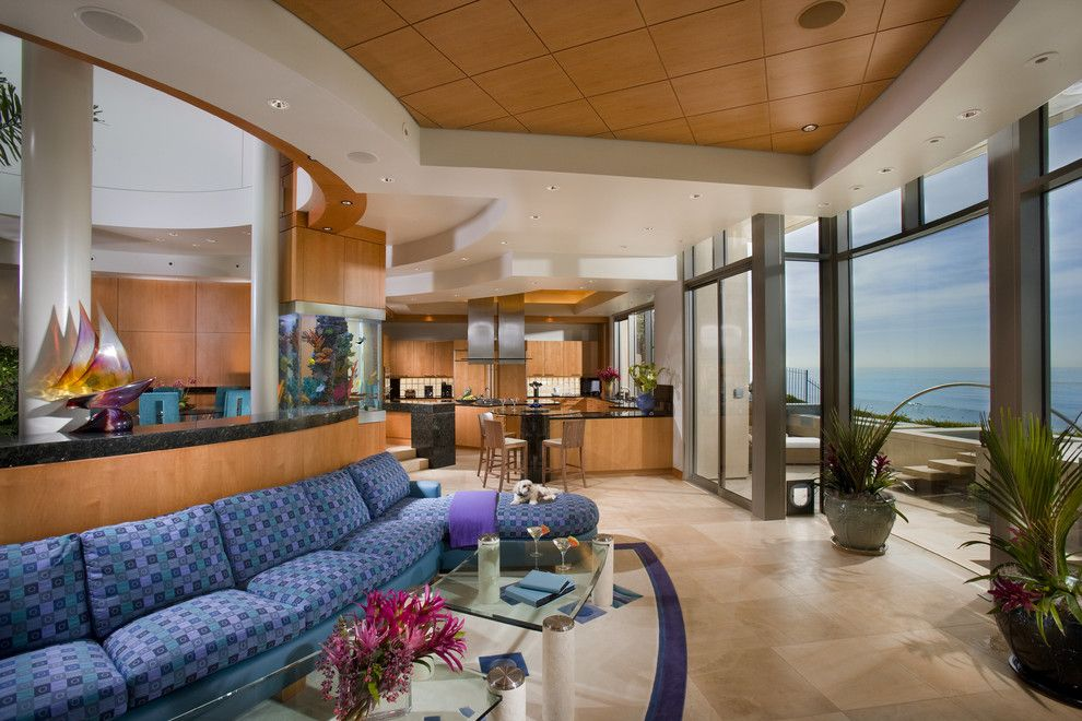 Lowes Riverside Ca for a Contemporary Living Room with a Wood Ceiling and Ritz Cove, Ca by Cindi White Designs Llc
