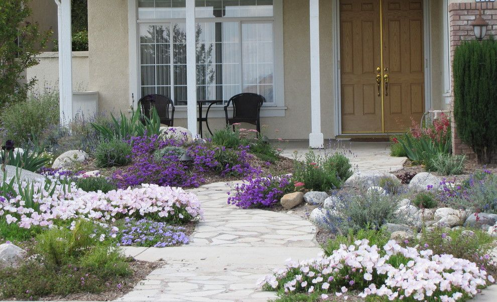 Lowes Riverside Ca for a  Landscape with a Sustainable Landscape Design and Water Wise Front Yard by Jean Marsh Design