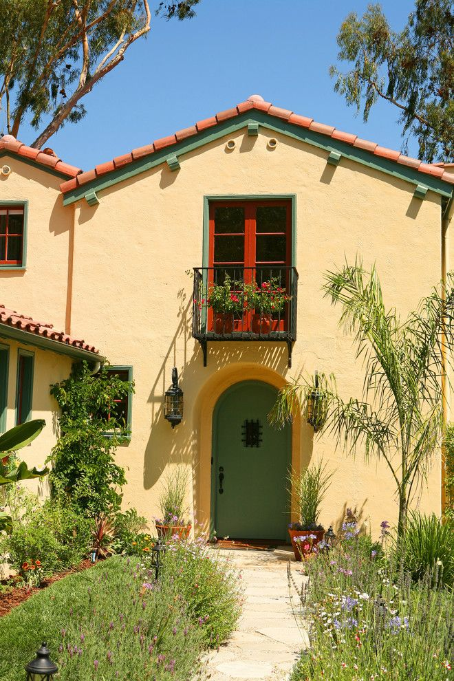 Lowes Riverside Ca for a Mediterranean Exterior with a Green Trim and Spanish Colonial Revival in La Canada Flintridge Ca by Sue Eller of Rsir