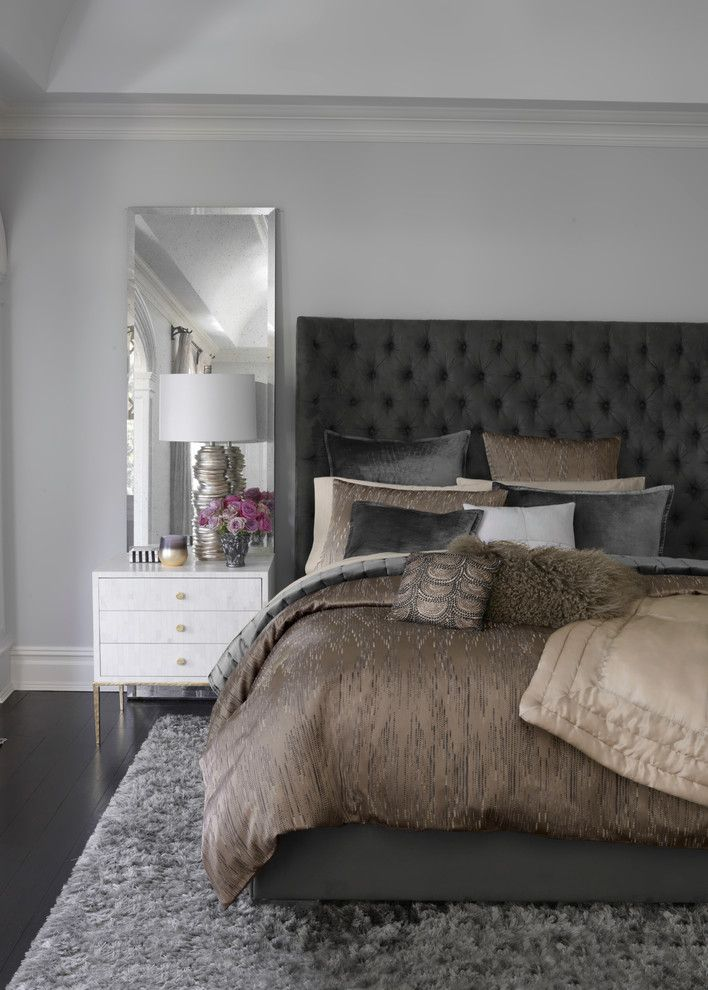 Lowes San Diego for a Contemporary Bedroom with a Contemporary and Donna Karan  Exhale Bedding Collection by Bloomingdale's