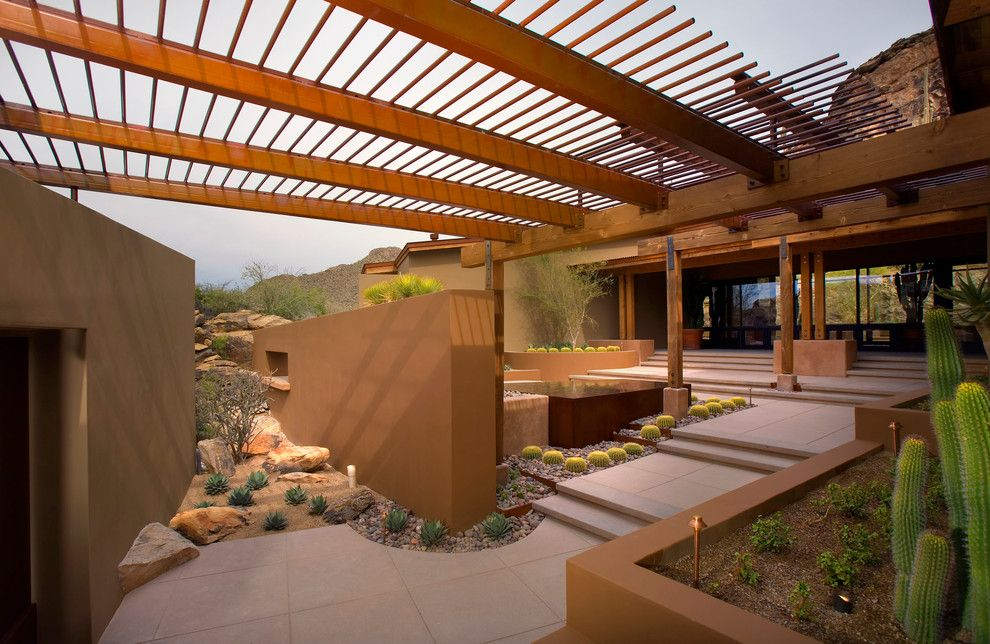 Lowes San Diego for a Southwestern Patio with a Pergola and Rancho Nuevo by Bianchi Design