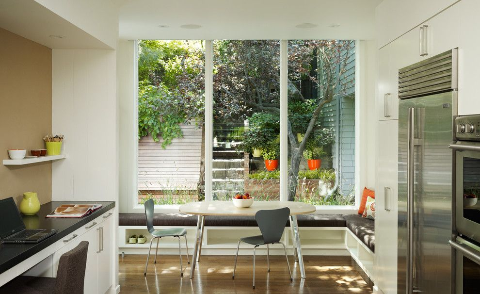 Lowes San Diego for a Transitional Kitchen with a Window Seat and Cary Bernstein Architect Potrero House by Cary Bernstein Architect