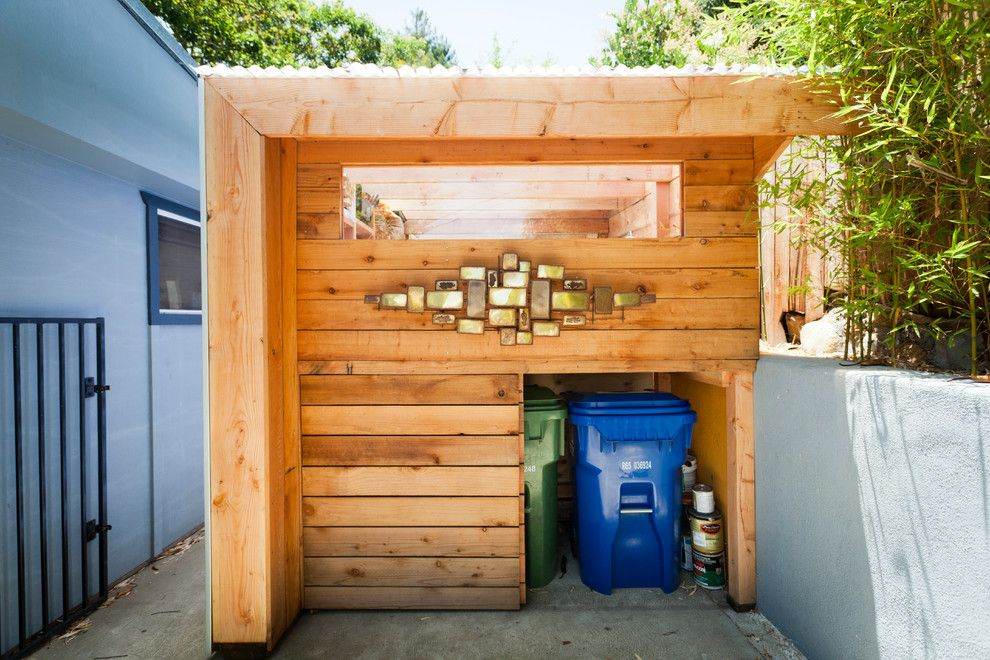 Lowes Santa Clarita for a Contemporary Shed with a Stucco Walls and Art Shed by Wyndhamdesign