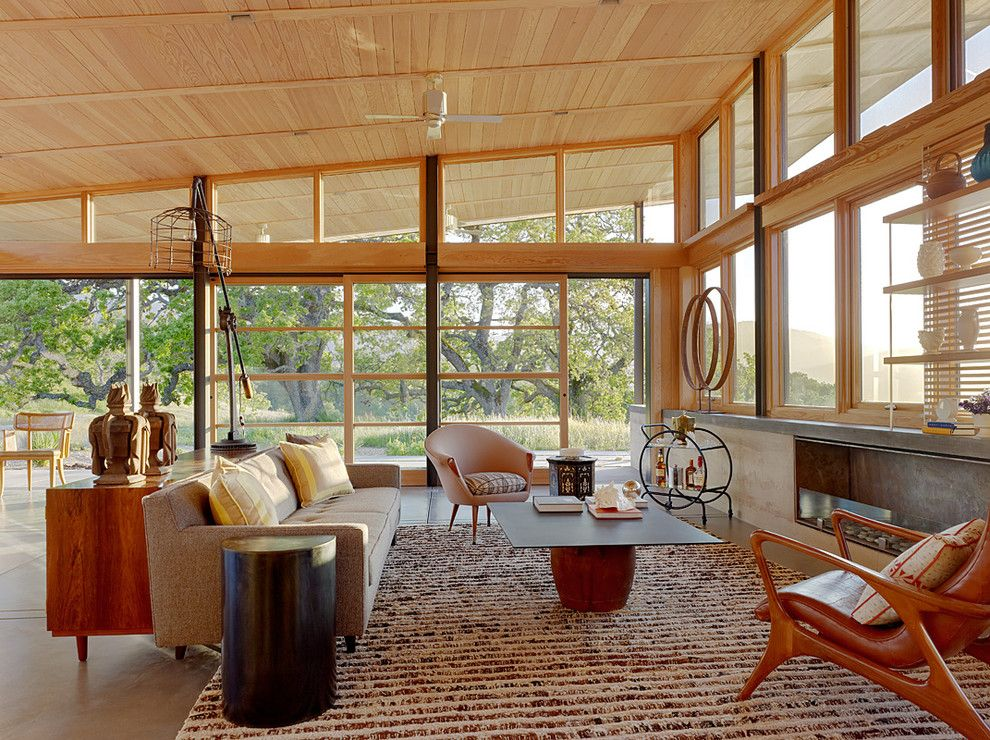 Lowes Santa Clarita for a Scandinavian Living Room with a Wood Ceiling and Caterpillar House by Jayjeffers