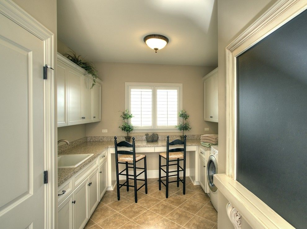 Lowes Santa Clarita for a Traditional Laundry Room with a Chalkboard and Hobby Mud Room by John Hall Custom Homes