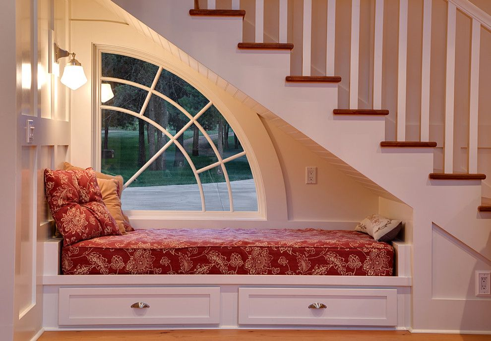 Lowes Stock Price Today for a Traditional Staircase with a Daybed and Nook by Sayler | Owens | Kerr Design Studio