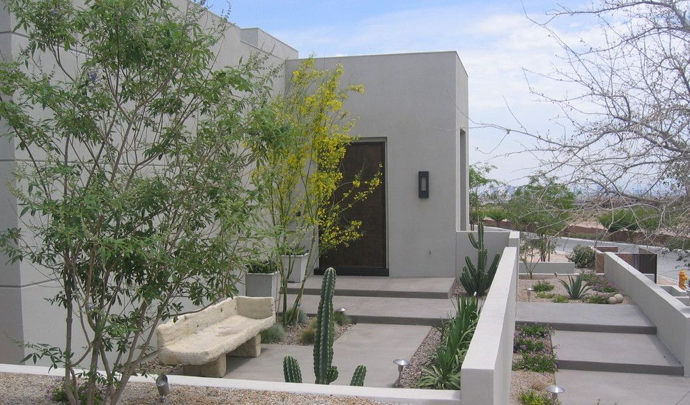 Lowes Surprise Az for a Modern Landscape with a Flat Roof and Bc Vegas by Sage Design Studios, Inc.