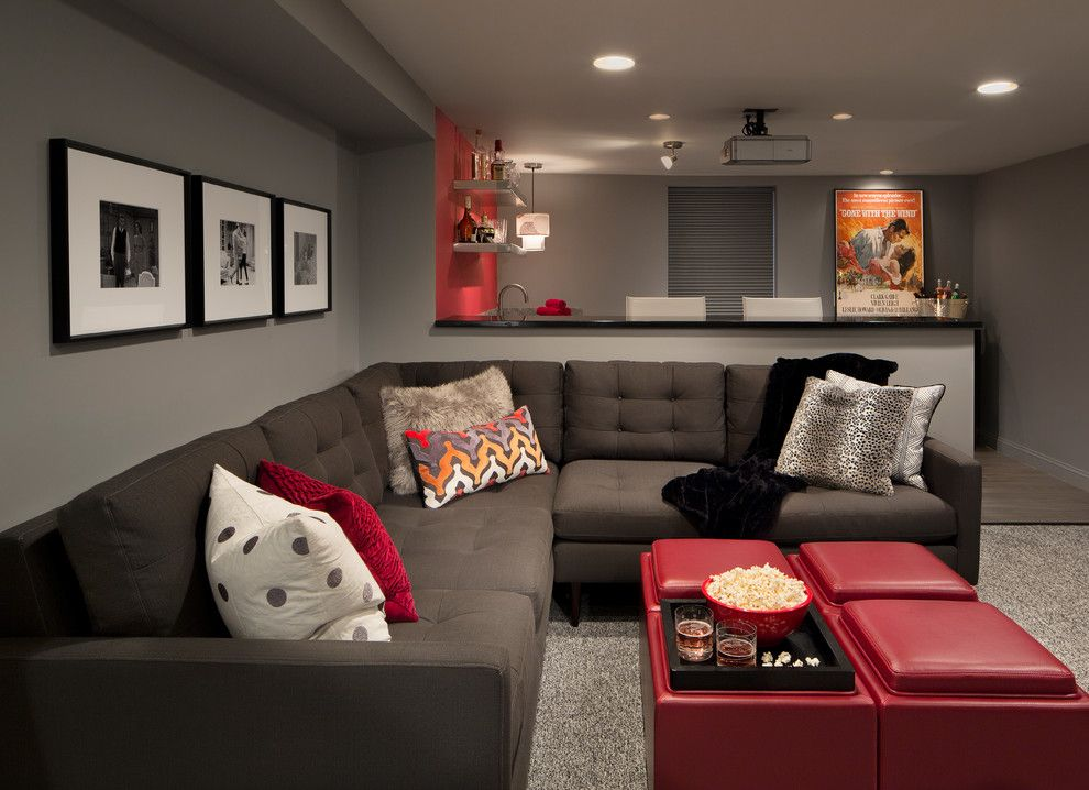 Lowes Washington Nc for a Modern Basement with a Mad Men Basement and Washington Project by Haddad Hakansson Design Studio
