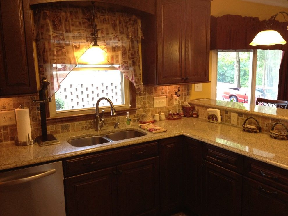 Lowes Washington Nc for a Traditional Kitchen with a Traditional and Kraftmaid  Montclair Oak Kaffe Kitchen   Larosa by Lowe's of Gastonia, Nc