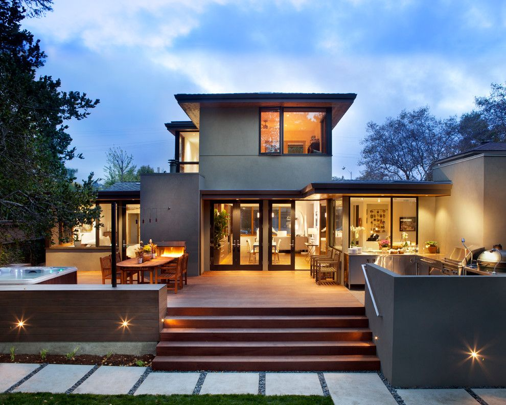 Lowes Yuba City for a Contemporary Exterior with a Deck and Exterior View, Backyard by Ohashi Design Studio