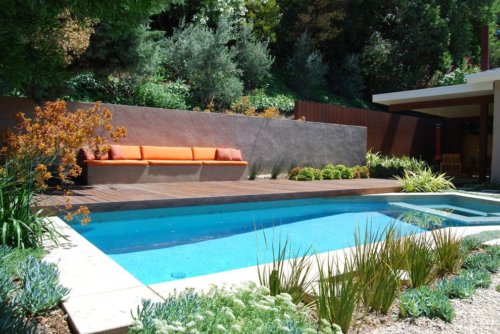 Lowes Yuba City for a Modern Pool with a Built in and Studio City by Jeremy Taylor Landscapes
