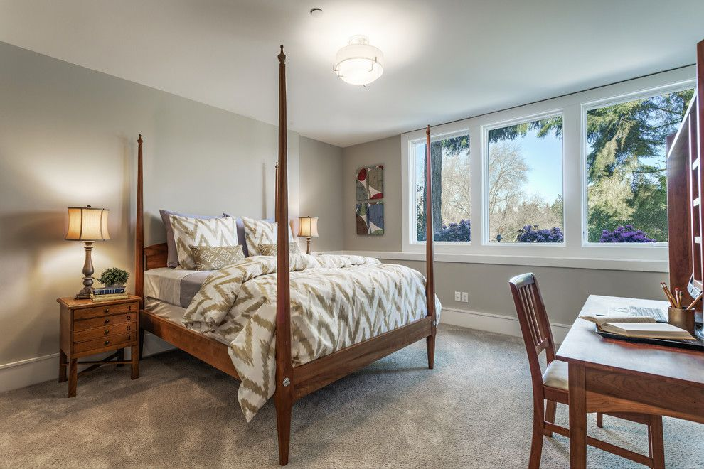 Lozier for a Transitional Bedroom with a Lochwood Lozier and Lochwood Lozier Custom Home in Medina by Lochwood Lozier Custom Homes