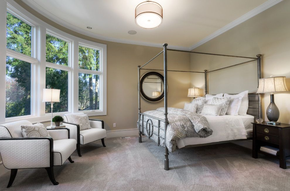 Lozier for a Transitional Bedroom with a Transitional and Lochwood Lozier Custom Home in Medina by Lochwood Lozier Custom Homes