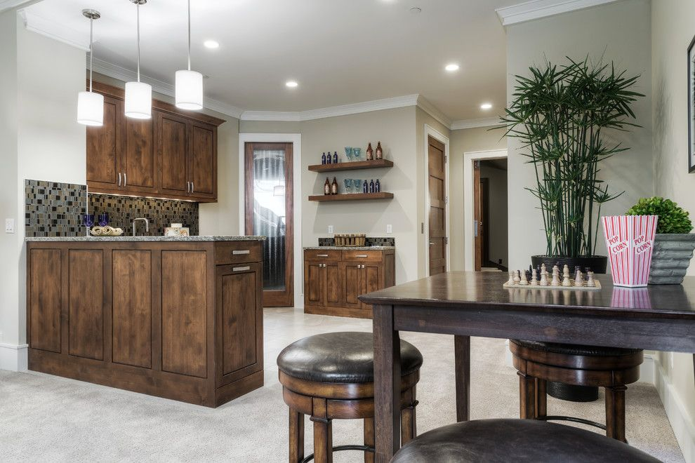 Lozier for a Transitional Home Bar with a Custom Home and Lochwood Lozier Custom Home in Medina by Lochwood Lozier Custom Homes