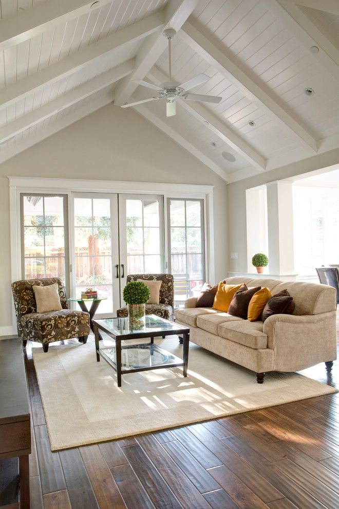 Lumber Liquidators Complaints for a Traditional Family Room with a Angled Ceiling and Menlo Park New Home with Basement by Allwood Construction Inc