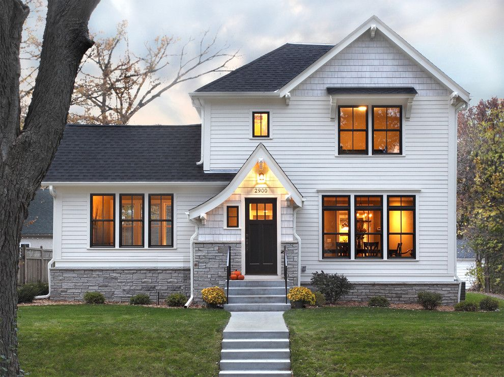 Lumber Liquidators Near Me for a Traditional Exterior with a Dark Trim and Cedar Lake Renovation by Awad + Koontz Architects Builders