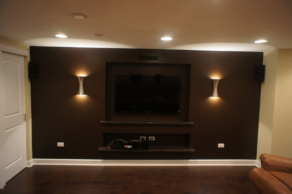 Lumiere Lighting for a Contemporary Basement with a Contemporary and Basements by Worthy Builders,Inc