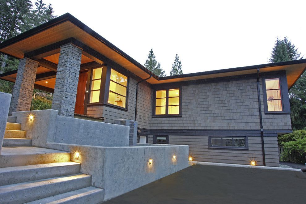 Lumiere Lighting for a Contemporary Exterior with a Outdoor Lighting and St. Andrews Renovation by Blackfish Homes Ltd.