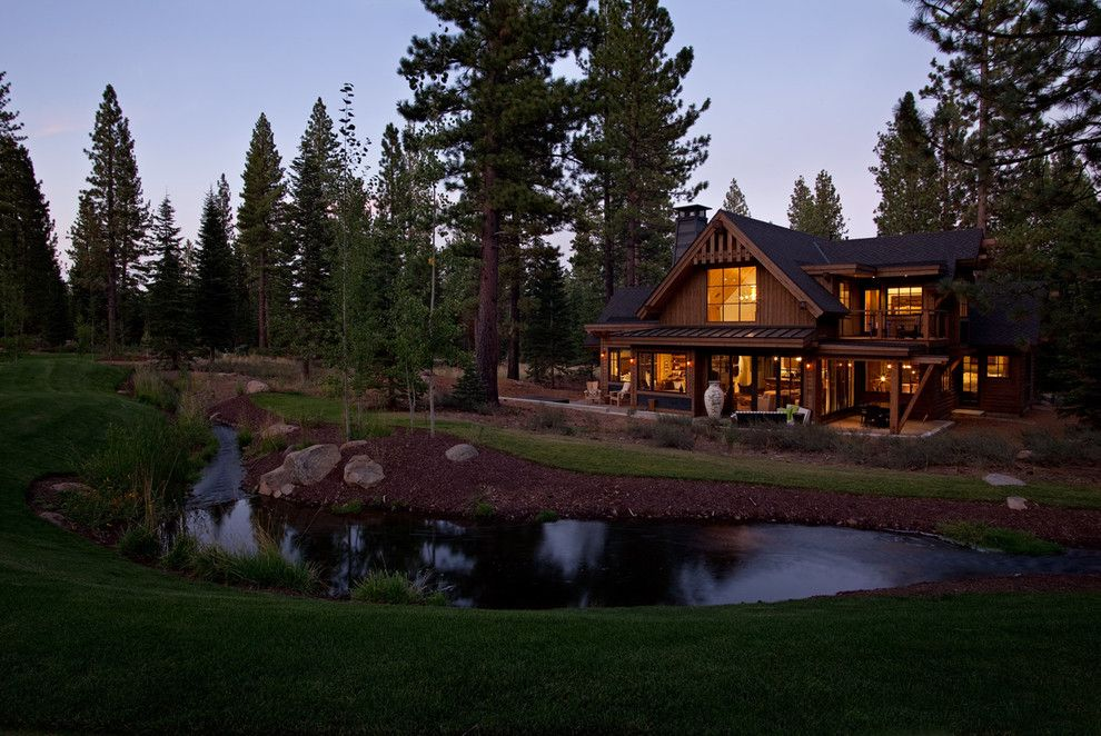 Lutron Homeworks for a Traditional Exterior with a Cabin and Martis Camp Lot 232 by Crestwood Construction Inc.