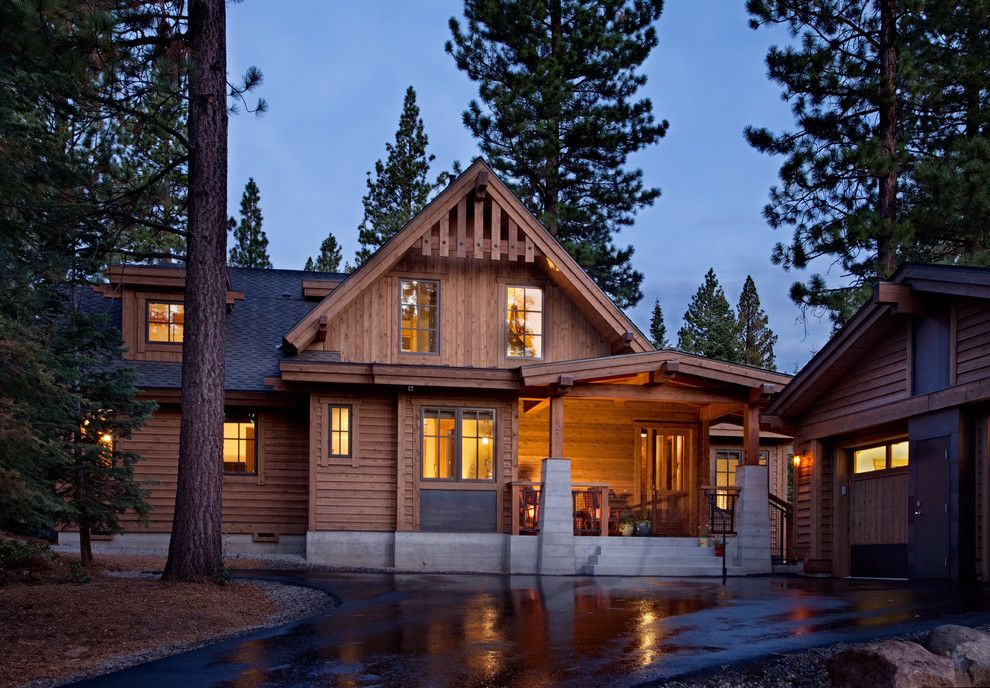 Lutron Homeworks for a Traditional Exterior with a Cabin and Martis Camp   Sweet Simplicity by Crestwood Construction Inc.
