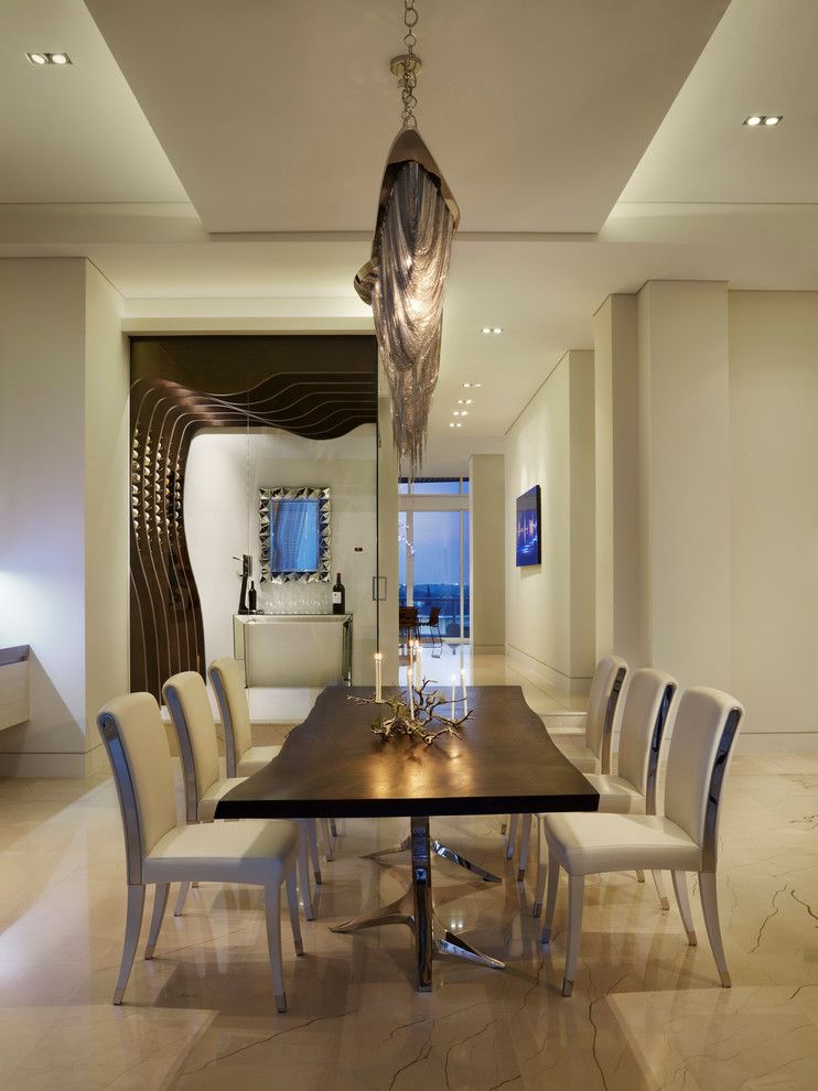 Lux Hair Salon for a Contemporary Dining Room with a Custom and Luxe Penthouse by Studio K Architects