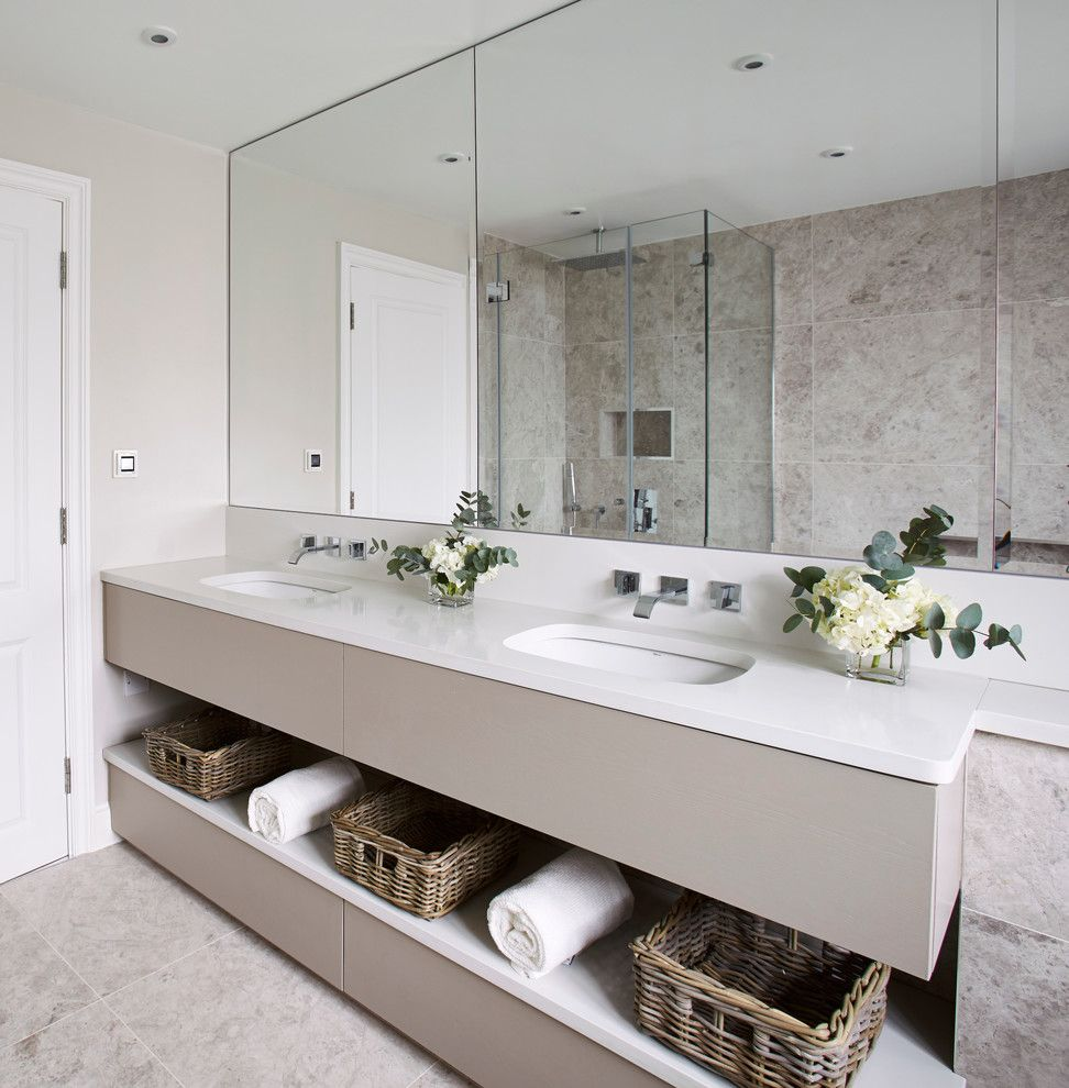 Luxe Hotel Sunset for a Contemporary Bathroom with a Vanity and Godfrey Street by the Olive Design Studio