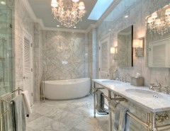 Luxe Hotel Sunset for a Traditional Bathroom with a Mark Dalton and Oyster Bay by Chic on the Cheap