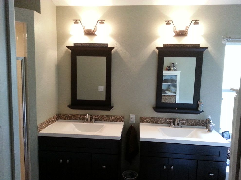Lyndhurst Castle for a Contemporary Bathroom with a Alan Roth Mirrors and Bathroom Remodel by Simply the Best Remodeling and Construction Llc.