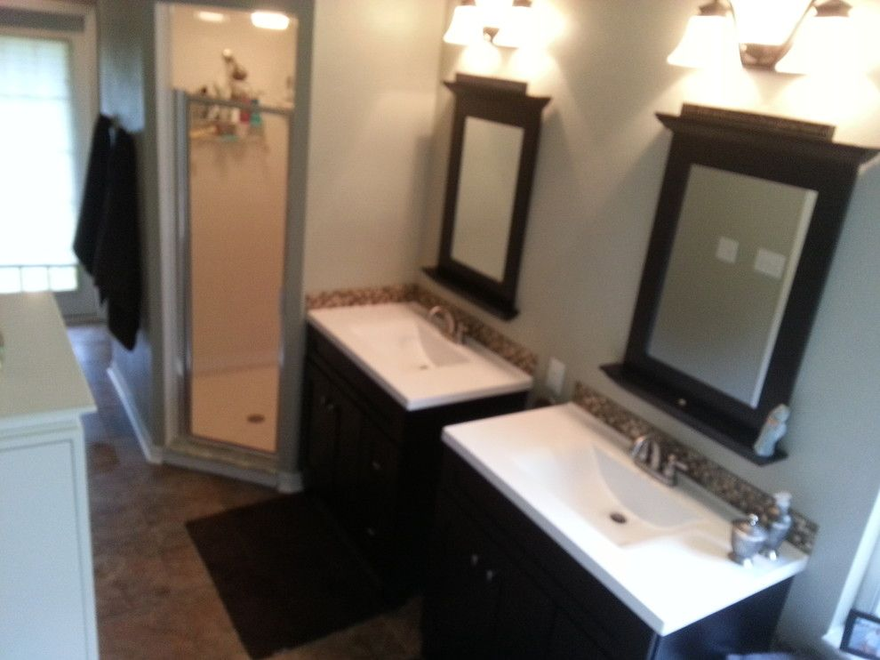 Lyndhurst Castle for a Contemporary Bathroom with a New Vanities Alan Roth and Bathroom Remodel by Simply the Best Remodeling and Construction Llc.