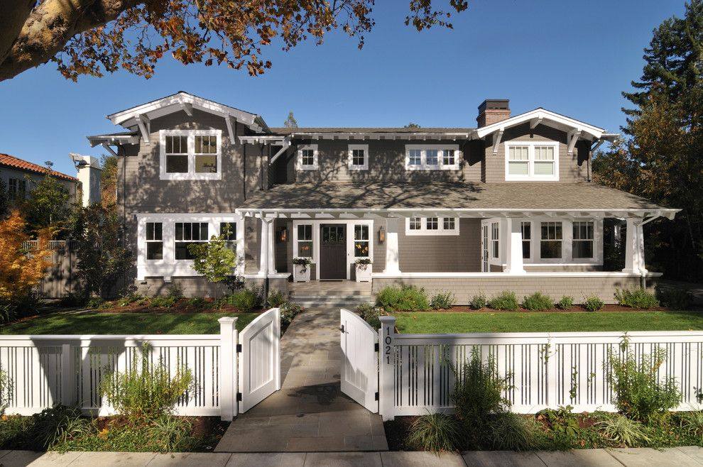 Lyndhurst Castle for a Craftsman Landscape with a Welcoming and Palo Alto Arts and Crafts by Fgy Architects