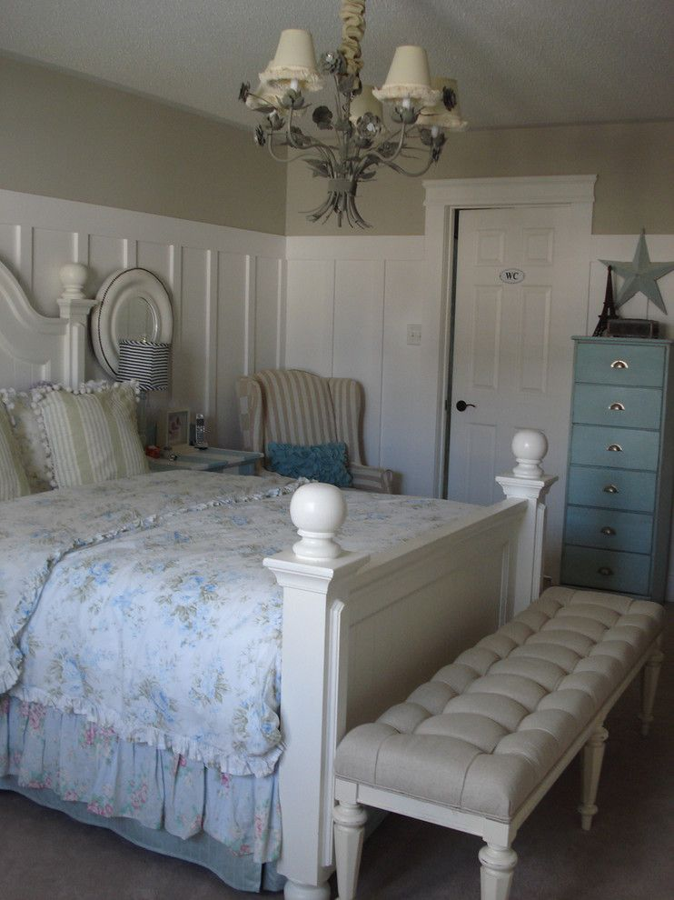 Lyndhurst Castle for a Traditional Bedroom with a White and Beach Style Master by Chris  Kauffman