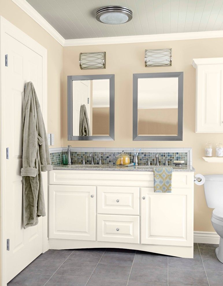 Lyndhurst Castle for a Transitional Bathroom with a Neutral Entryway and New Neutrals by Lowe's Home Improvement