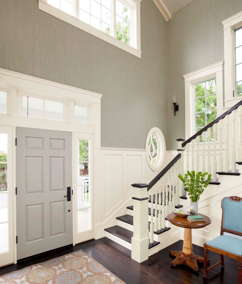 Lyndhurst Castle for a Transitional Entry with a Neutral Family Room and New Neutrals by Lowe's Home Improvement