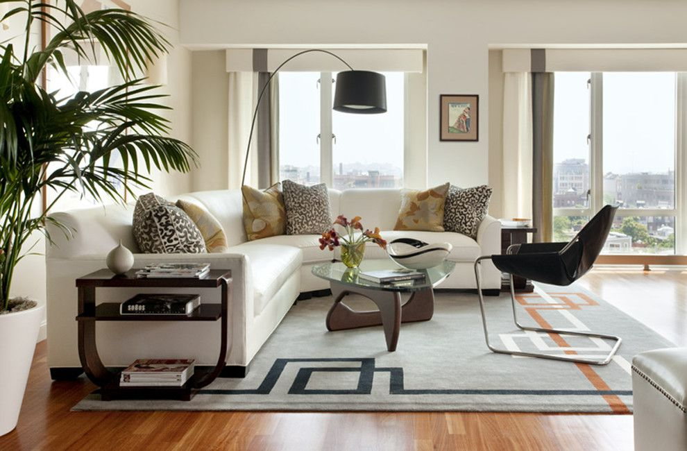 Macys Furniture Store for a Contemporary Living Room with a Wall Art and Living Room by Eleven Interiors