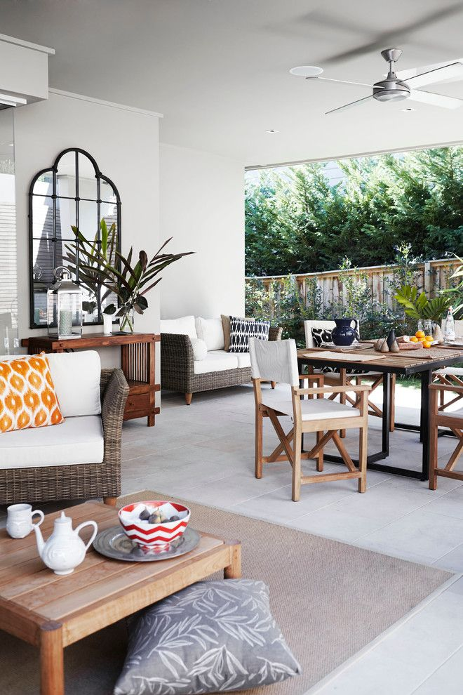 Macys Furniture Store for a Contemporary Patio with a Wood Fence and Paddington by Harrison's Landscaping