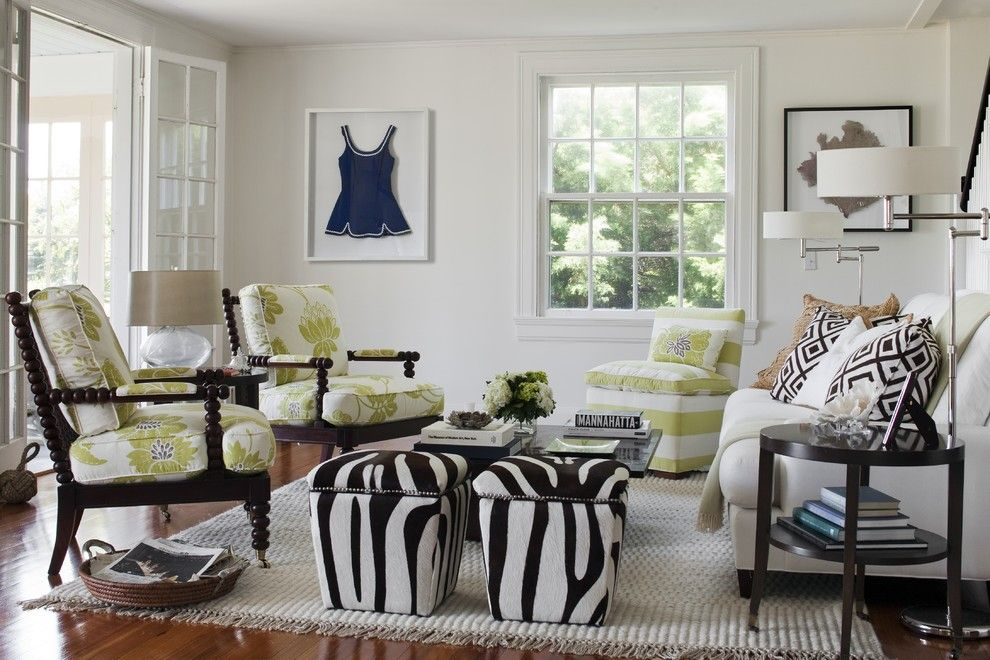 Macys Furniture Store for a Eclectic Living Room with a Brown and White Living Room and Beach Cottage, Watch Hill, Ri by Kate Jackson Design