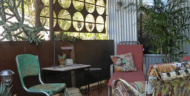 Macys Furniture Store for a Shabby-Chic Style Porch with a Rusted and Dallas, TX: Constance Chantilis by Sarah Greenman